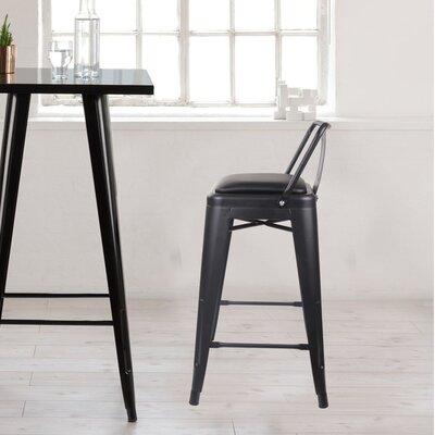 Alric 24 Bar Stool Color: Black