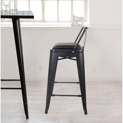 Alric 24 Bar Stool Color: Black