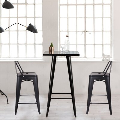Capucine 24 Bar Stool Color: Black