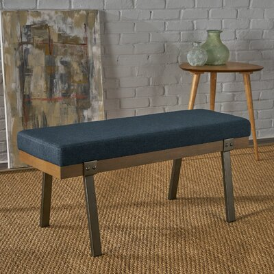 Costilla Ottoman Upholstery: Navy Blue