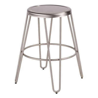 Chaidez 24.25 Bar Stool Color: Stainless Steel