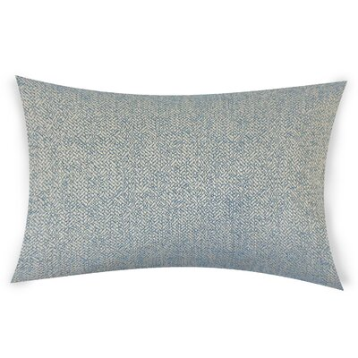 Tanuja Woven Down Filled 100% Cotton Lumbar Pillow Color: Blue