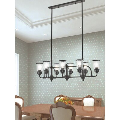 Laurenza Linear 8-Light Kitchen Island Pendant Finish: Bronze