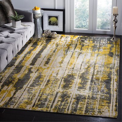 Zowie Hand Woven Cotton Gray Area Rug Rug Size: Rectangle 8 x 10
