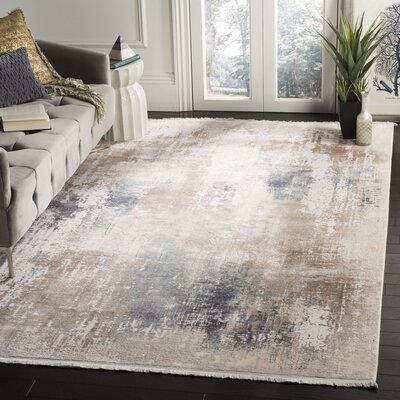 Cuellar Beige Area Rug Rug Size: Rectangle 6 x 9