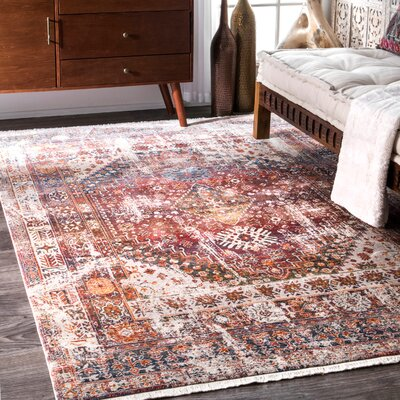 Shiv Rust Area Rug Rug Size: Rectangle 6 7 x 9 4