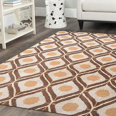 Billerica Hand-Tufted Wool Beige/Brown Area Rug Rug Size: Rectangle 9 x 12