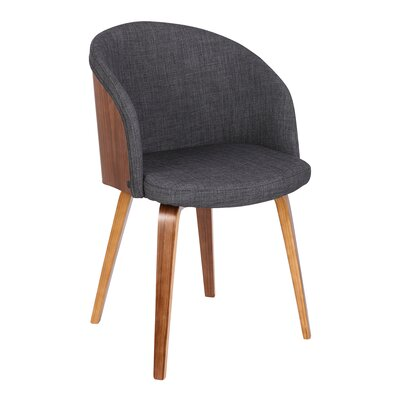 Duxbury Mid-Century Arm Chair Upholstery: Charcoal