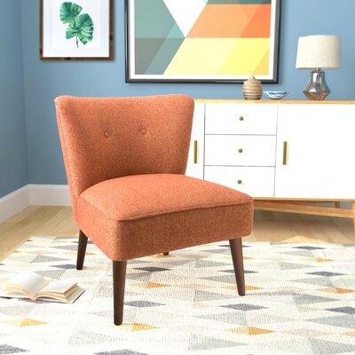 Westfield Armless Side Chair Upholstery: Orange