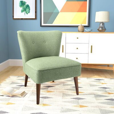 Westfield Armless Side Chair Upholstery: Teal