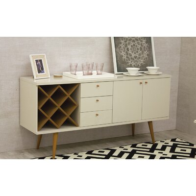 Lemington Wine Rack Sideboard Buffet Table Color: Off White/Maple Cream