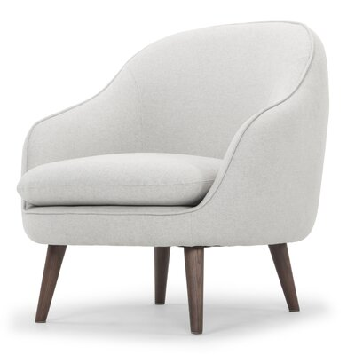McCartner Barrel Chair Upholstery: Light Gray