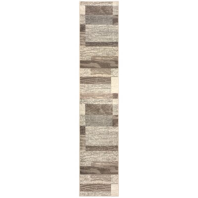 Rita Beige/Brown Area Rug Rug Size: Runner 2 x 11