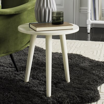 Beem Round End Table Color: Distressed White