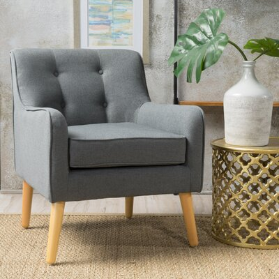 Derby Mid Century Armchair Upholstery: Charcoal