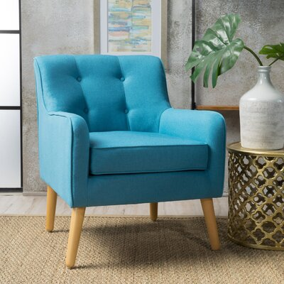 Derby Mid Century Armchair Upholstery: Teal