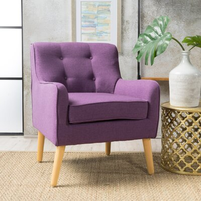 Derby Mid Century Armchair Upholstery: Purple