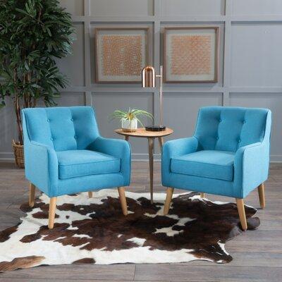 Elmore Mid Century Armchair Upholstery: Teal