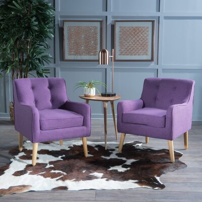 Serenity Armchair Upholstery: Purple