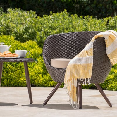 Springfield Cillian Wicker 3 Piece Lounge Seating Group with Cushion