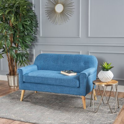 Enfield Mid Century Modern Loveseat Upholstery: Muted Blue