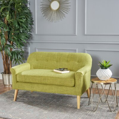 Enfield Mid Century Modern Loveseat Upholstery: Muted Green
