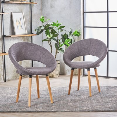 Glastonbury Fabric Modern Upholstered Dining Chair Color: Light Gray