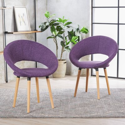 Glastonbury Fabric Modern Upholstered Dining Chair Color: Muted Purple