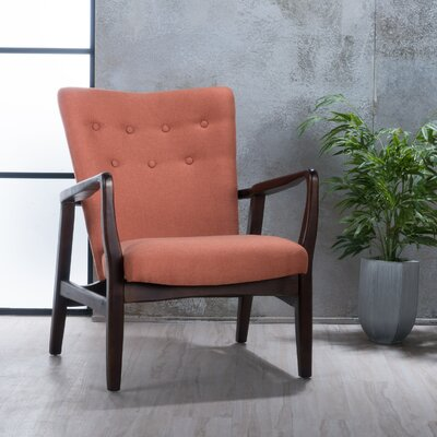 Galen Armchair Upholstery: Orange