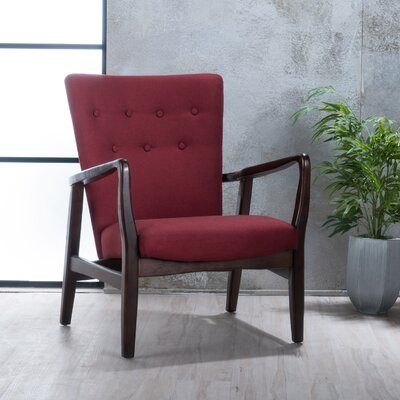 Galen Armchair Upholstery: Deep Red