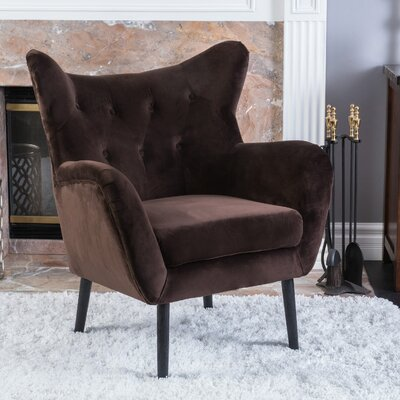 Bouck Wingback Chair Upholstery Color: Coffee