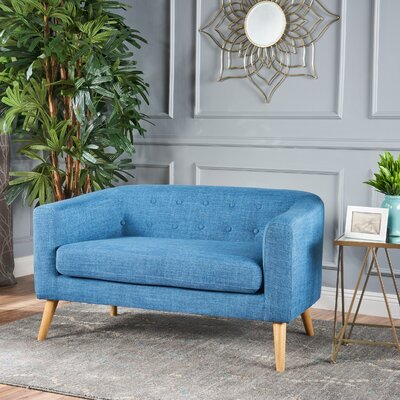 Pawlet Fabric Loveseat Upholstery: Blue