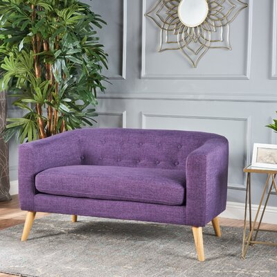Pawlet Fabric Loveseat Upholstery: Purple