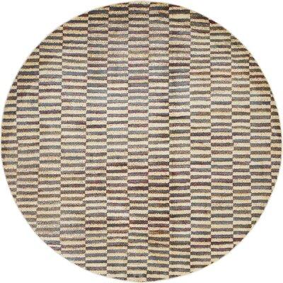 Van Siclen Beige Area Rug Rug Size: Round 5