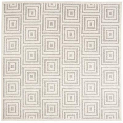 Candor Gray Outdoor Area Rug Rug Size: Square 67