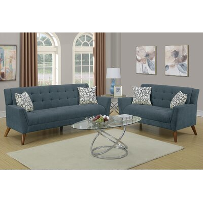 Varley 2 Piece Living Room Set Upholstery: Slate