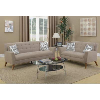 Varley 2 Piece Living Room Set Upholstery: Sand