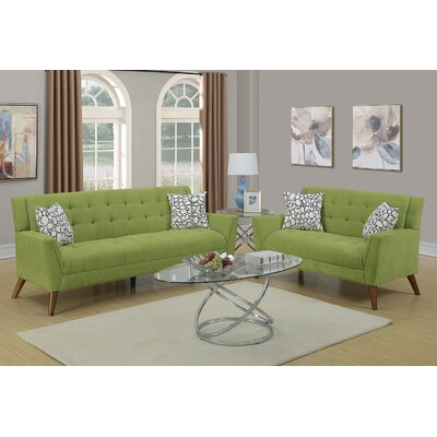 Varley 2 Piece Living Room Set Upholstery: Willow