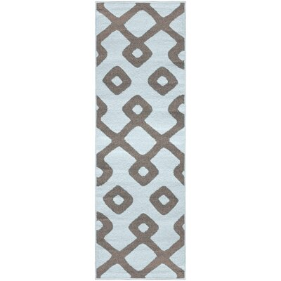 Hartland Diamond Pave Blue Area Rug Rug Size: Runner 26 x 8