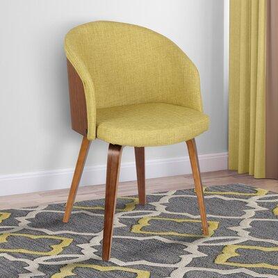 Duxbury Mid-Century Arm Chair Upholstery: Green
