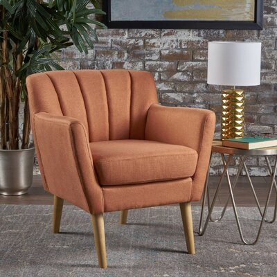 Bovina Armchair Upholstery: Orange