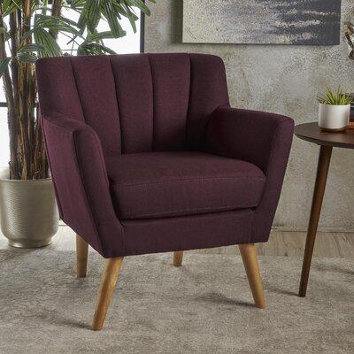 Bovina Armchair Upholstery: Plum