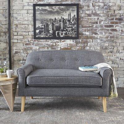 Enfield Mid Century Modern Loveseat Upholstery: Gray