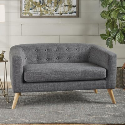 Pawlet Fabric Loveseat Upholstery: Gray