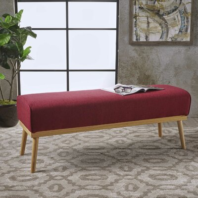 Burns Ottoman Upholstery: Deep Red