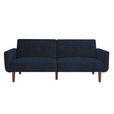 Annsville Modern Velvet Convertible Sofa Upholstery : Blue