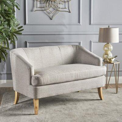 Vanmatre Fabric Loveseat Upholstery: Beige