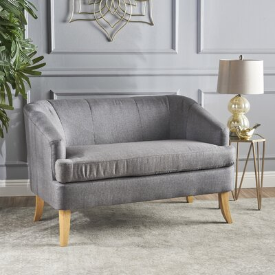 Vanmatre Fabric Loveseat Upholstery: Dark Gray