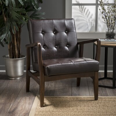 Cohocton Armchair Upholstery: Brown Leather