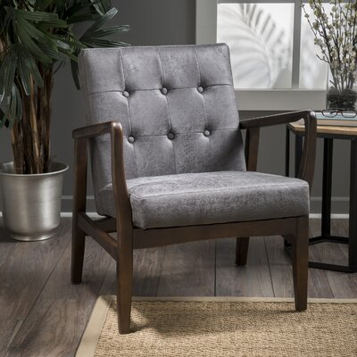 Cohocton Armchair Upholstery: Slate Microfiber